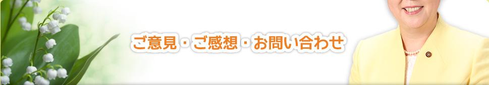 ご意見・ご感想・お問い合わせ|船橋市議会議員 はしもと 和子
