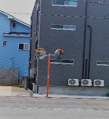カーブミラーの設置(前原西4-18)成田街道