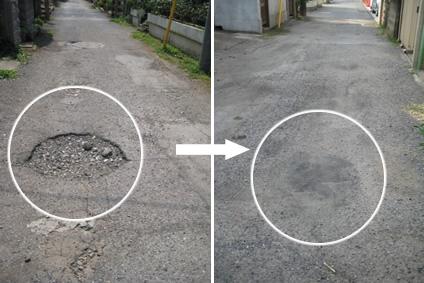道路の補修